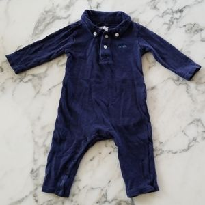 Navy Blue Long Sleeves Rompers, Size 3-6 Months